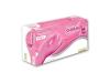Alasta PF Shimmer Pink Nitrile Gloves