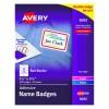 Flexible Self-Adhesive Laser/ Inkjet Name Badge Labels